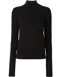 MM6 MAISON MARGIELA Chest Detailing Knitted Blouse