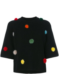 Fendi Pom Pom Knitted Top