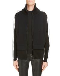 Givenchy Funnel Neck Knit Jacket