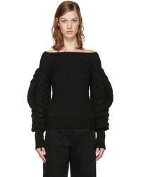 Black cable knit sweater medium 952909