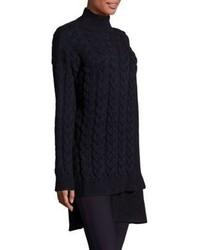 Stella McCartney Chunky Stitch Mixed Knit Tunic Sweater