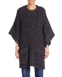 See by Chloe Flecked Knit Poncho