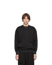 Issey Miyake Men Black Wrinkle Knit Cardigan