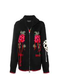 Alexander McQueen Loose Thread Knitted Cardigan