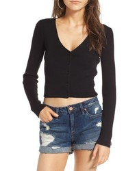 Rib knit crop cardigan medium 5264798