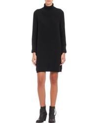 Black Knit Casual Dress