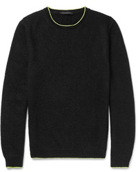 Black Knit Crew-neck Sweater