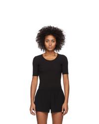 Wone Black Rib Knit T Shirt