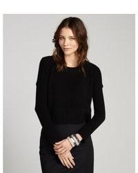 Black Knit Cropped Sweater