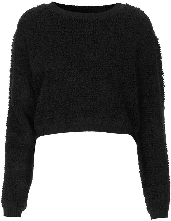 outlet online superior quality factory price Topshop Loop Knit Cropped Jumper, $140 | Topshop | Lookastic.com