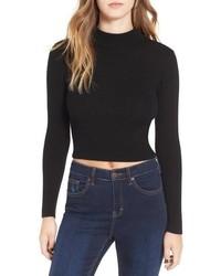 ASTR Nellie Crop Mock Neck Sweater