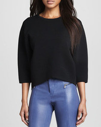 J Brand Ready To Wear Griffith Cropped Knit Sweater