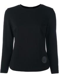 Akris Punto Cropped Sleeve Knit Top
