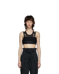3.1 Phillip Lim Black Crochet Tank Top