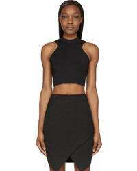 Versace Black Cropped Knit Top