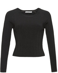 Carven Cropped Rib Knit Top