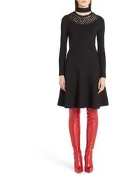 Fendi Macrame Inset Knit Dress