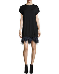 No.21 No 21 Olga Knitted Feather Hem Cocktail Dress