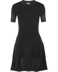 Kenzo Pointelle Knit Dress Black