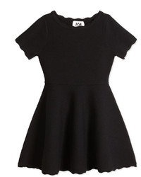 Milly Minis Scalloped Fit And Flare Knit Dress Size 8 14