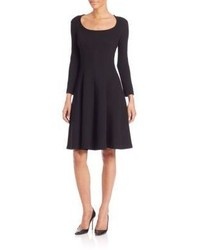 Theory Beyao Diamond Knit Fit And Flare Dress