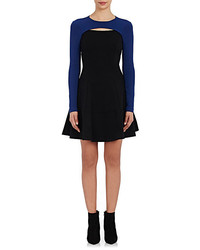Lisa Perry Compact Knit Cutout Fit Flare Dress