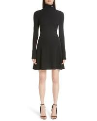 Calvin Klein 205W39nyc Logo Turtleneck Wool Skater Dress