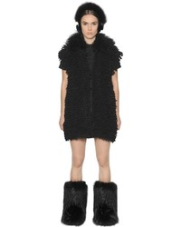 Fendi Mongolian Fur Alpaca Knit Vest