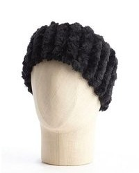 Wyatt Black Faux Fur Cold Weather Headband