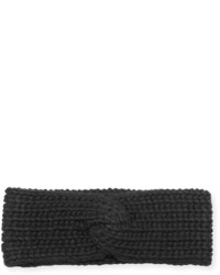 Portolano Braided Wool Blend Knot Headband Black