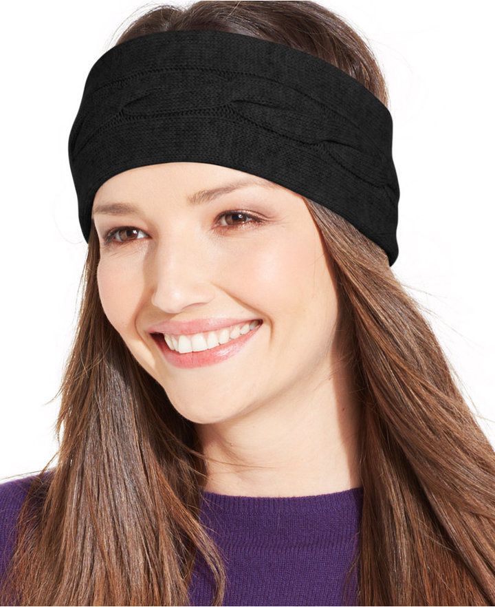 Charter Club Cashmere Cable Knit Headband 8422173fece