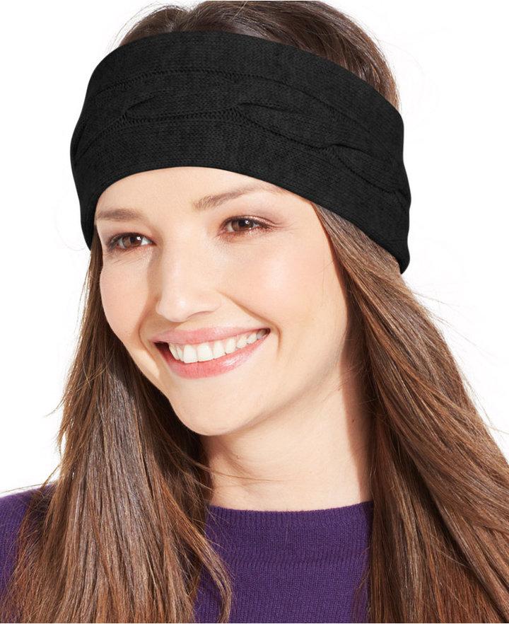 7c122457e59b0 ... Charter Club Cashmere Cable Knit Headband