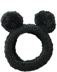 Eugenia Kim Mies Chunky Hand Knit Headband Wpom Poms