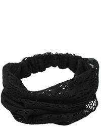 Refaxi Elegant Black Bandanas Lace Headwrap Headband Girls Hair Accessory Gift