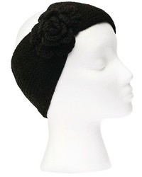 Sylvia Alexander Knit Headband With Flower Detail