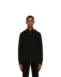Alexander McQueen Black Cashmere Zip Up Hoodie