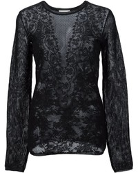 Lanvin Lace Jacquard Knitted Top