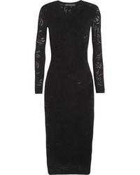 Versace Open Knit Dress Black