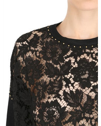 Valentino Studded Lace Knit Sweater