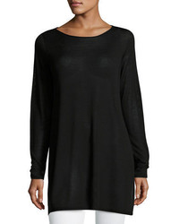 Eileen Fisher Long Sleeve Seamless Knit Ballet Neck Tunic