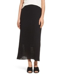Pleat knit maxi skirt medium 5308747