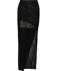 Rhett wrap effect crochet knit maxi skirt medium 1159776