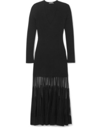 Alexander McQueen Ed Ribbed Stretch Knit Dress