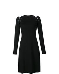 Proenza Schouler Lace Up Long Sleeve Dress