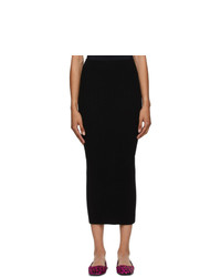 MM6 MAISON MARGIELA Black Tight Knit Skirt