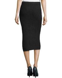 4ed022af59 ... Michael Kors Michl Kors Cashmere Shaker Knit Pencil Skirt Charcoal