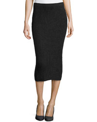Michael Kors Michl Kors Cashmere Shaker Knit Pencil Skirt Charcoal