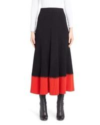 Alexander McQueen Rib Knit Midi Skirt