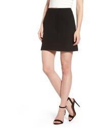 A Line Knit Miniskirt