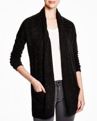 Aqua Cashmere Tweed Open Cardigan